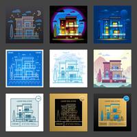 Huis in verschillende stijlen vector