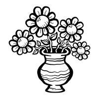 Cartoon bloem