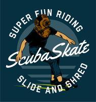 scuba-skate vector