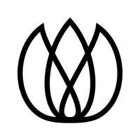 Tulip bloem vector pictogram