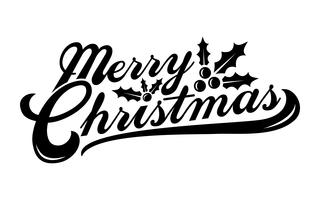Merry Christmas tekst lettertype afbeelding