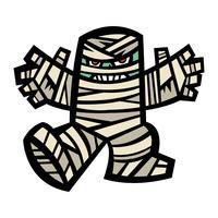 Spooky mummiekarakter vector