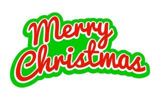 Merry Christmas tekst lettertype afbeelding vector