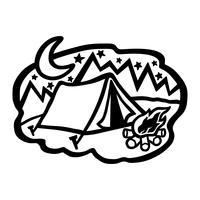Tent kamperen vector