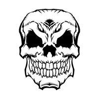 Grafische schedel vector