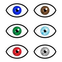 Oog vector pictogram