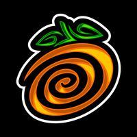 Oranje fruitillustratie