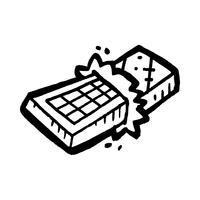 chocoladereep cartoon vector