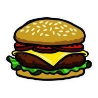 Hamburger cartoon vectorillustratie