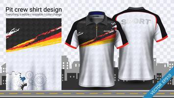 Racet-shirt met ritssluiting, mockupsjabloon voor sportkleding.