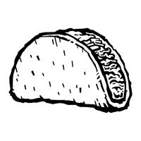 Taco vectorillustratie vector