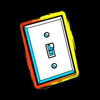 Lightswitch vector pictogram