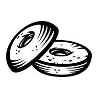 Bagel vector pictogram