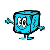 Bevroren ijsblokjes voor drankjes vector