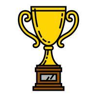 Trofee vectorillustratie