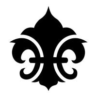 Fleur de lis-symbool vector