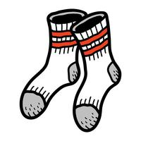 Sokken Kleding voor voeten vector