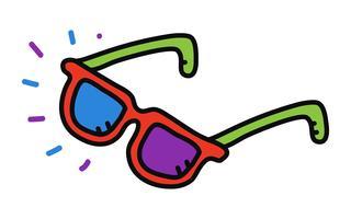 Cool zonnebril Eye Frames vector pictogram