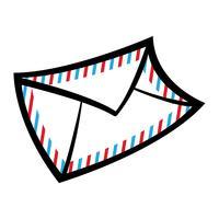 Envelop pictogram vectorillustratie vector