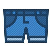 Blauwe spijkerbroek vector