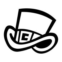 hoge hoed vector pictogram