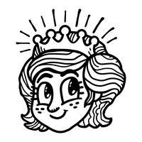 Prinses Cartoon vector