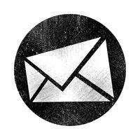 Envelop pictogram vectorillustratie