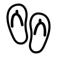 flip flop schoen vector pictogram