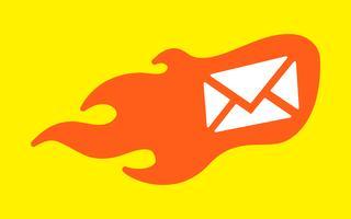 Vlam envelop pictogram vectorillustratie