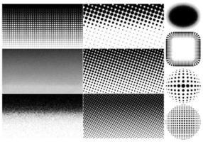 Halftone vectoren en achtergrondpakket