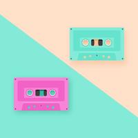 Retro Cassette Tapes Pop achtergrond