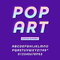 moderne pop-art lettertype effect vector
