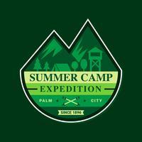 Verzameling van Summer Camp-badge vector