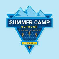 Flat Summer Camp-badge vector