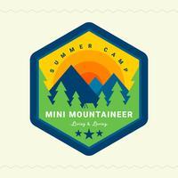 Summer Camp-badge vector