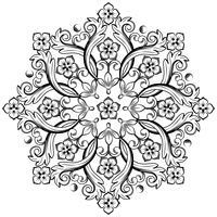 Mooi rond sierelement voor ontwerp in zwart-witte kleuren. Vector illustratie