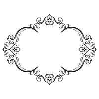 Sier vintage frame. Vectorillustratie in zwart-witte kleuren vector