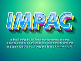 3D-lettertype-effect met moderne trendy stijl vector