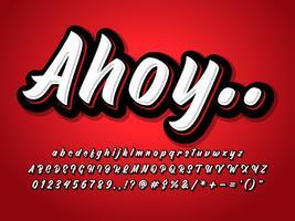 Lettertype-effect met Hooglicht en schaduw