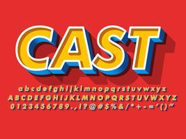 Fancy 3d lettertype Vintage letterbeeld vector
