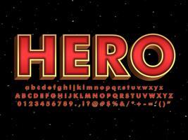 Rood lettertype met metallic goudeffect