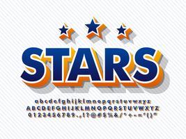3D-lettertype Baseball alfabet