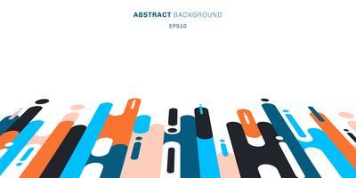 Abstracte kleurrijke afgeronde vormen lijnen overgangsperspectief achtergrond met kopie ruimte. vector