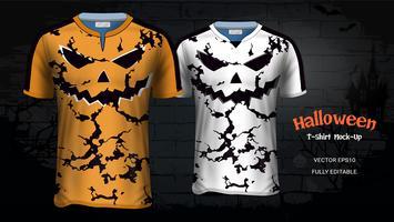 Halloween kostuum T-shirts Mockup sjabloon. vector
