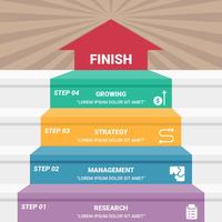 Verschillende zakelijke stappen