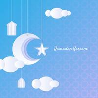 Wenskaart Ramadan Kareem vector