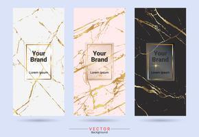 Productontwerpetiket en stickersjablonen van verpakking. vector