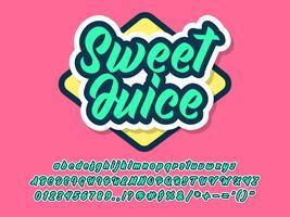 Vriendelijk letterbeeld voor merk- en logo-ontwerp vector