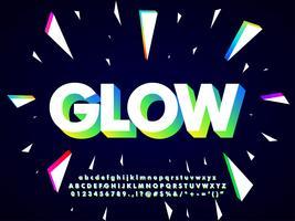 Modern Neon lettertype ontwerp vector