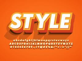 3d Vet en sterke moderne letterbeeld